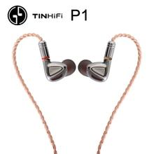 Tinhifi p1 alta fidelidade fone de ouvido sem microfone estanho áudio p1 com cabo mmcx fone