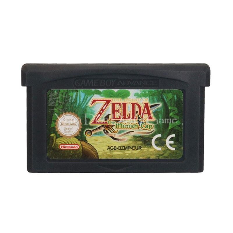For Nintendo GBA Video Game Cartridge Console Card The Legend Of Zeld The Minish Cap ENG/FRA/DEU/ESP/ITA Language EU Version