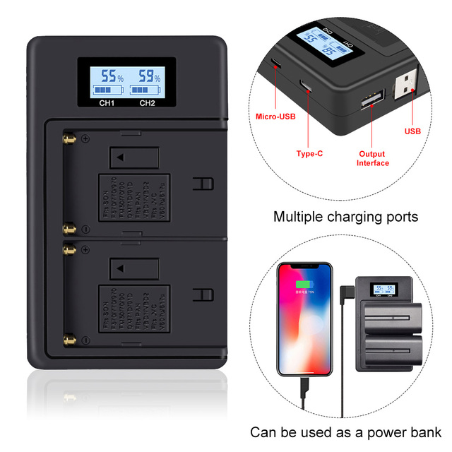 NP F960 970 NP F970 NPF970 LCD digital battery charger for SONY F930 F950 F770 F570 CCD RV100 NP F550 NP F770 NP F750 F960 F970