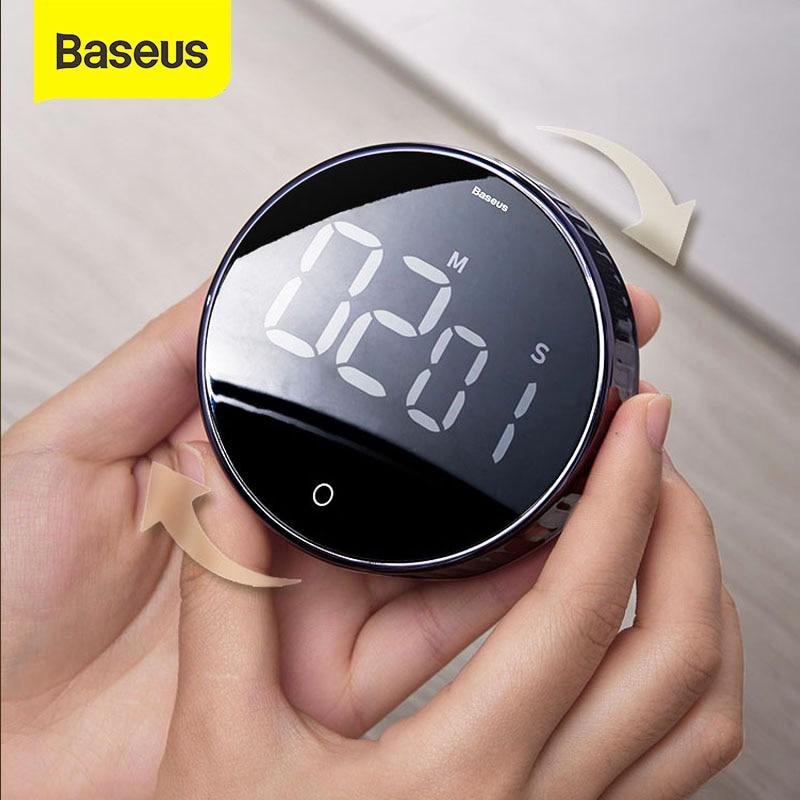 Digital-Timer Alarm-Clock Stopwatch Led-Counter Cooking-Shower Study Kitchen Baseus Magnetic