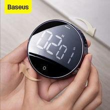 Baseus-minuterie numérique magnétique, pour cuisine, douche, chronomètre d'étude, compteur LED, alarme, compte à rebours électronique manuel