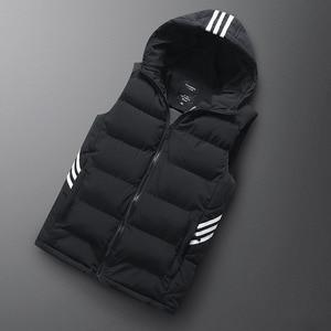 Image 3 - Sleeveless Hoodie Men Vest Winter Gilet Uomo Inverno Jacket 6XL 7XL 8XL Mens Warm Casual Plus Size Mannen Black Red Waistcoat