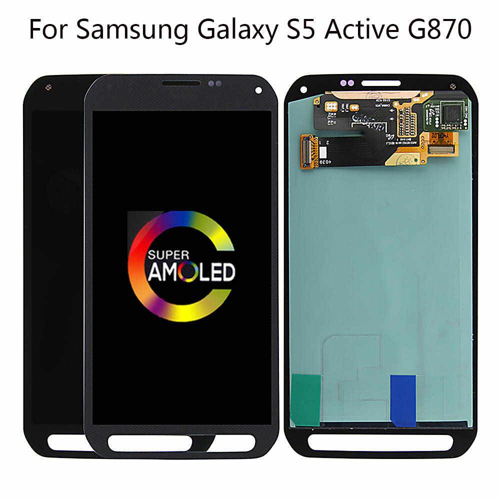 Super AMOLED ЖК экран 5 1 дюйма для SAMSUNG GALAXY S5 Active дисплей с дигитайзером сенсорного