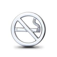 ملصق سيارة شارات معدنية ثلاثية الأبعاد شارة لا التدخين تحذير ملصقات السيارات الموضة مضحك تصفيف السيارة ملصق مائي للدراجات النارية اكسسوارات