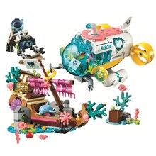 Friends Dolphins Rescue Mission Building Blocks Kit Bricks Classic Girl Movie Model Kids Toys For Children Gift