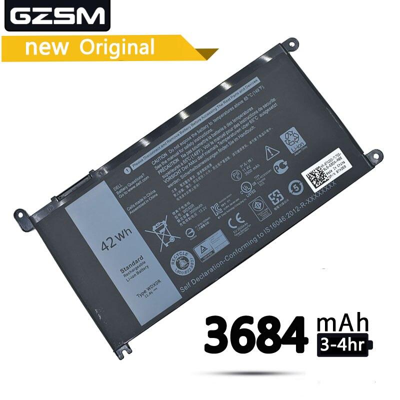 GZSM Laptop Battery WDXOR For Dell Inspiron 14 7000 5567 7560 Battery For Laptop 7472 7460-d1525s 7368 7378 5565 P61F Battery