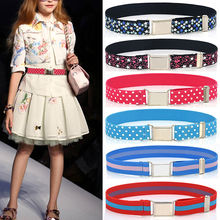 55cm Adjustable Kids Children Belt Handmade Stretch Elastic Canvas Waistband Easy Buckles Boys Girls Pants Trousers Belts