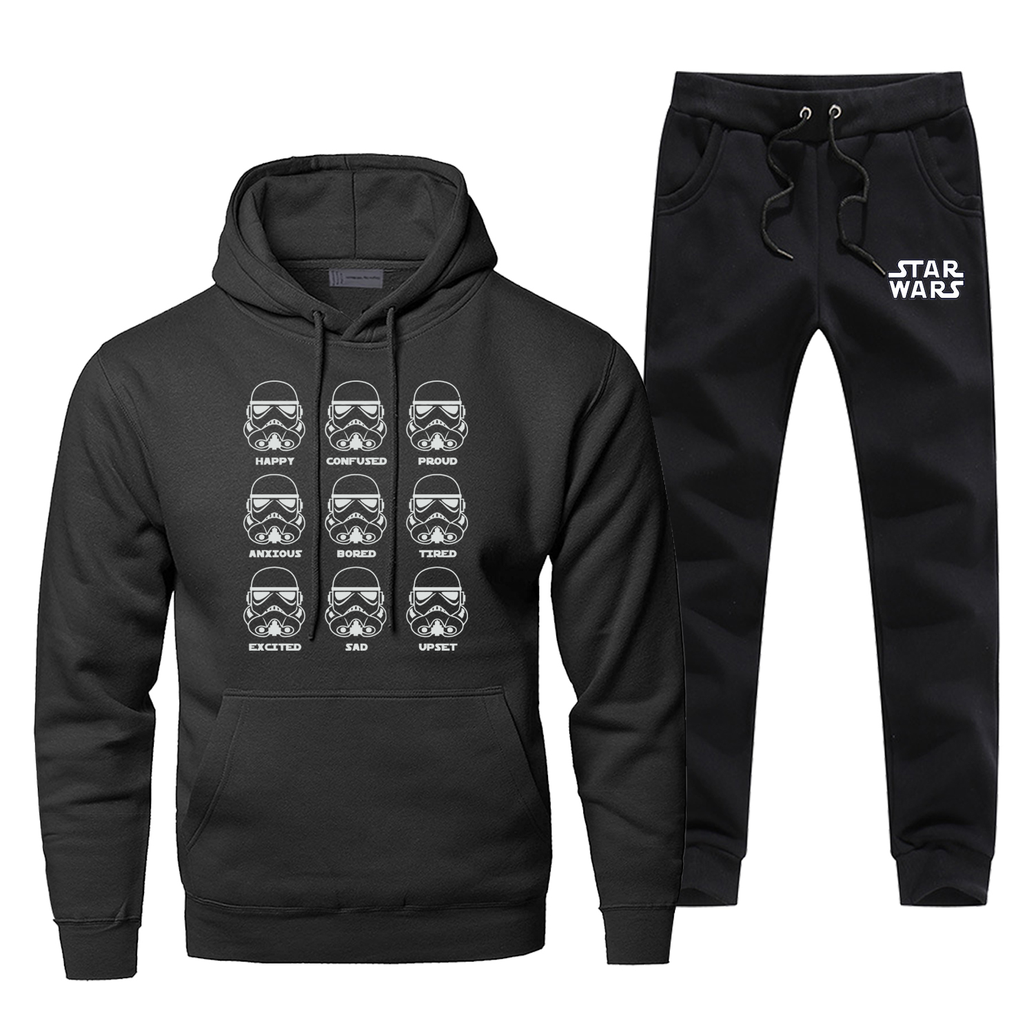 Star Wars Darth Hoodies Pants Set Men Hoodie Sweatshirt Mens Hoodies Pollover 2 Piece Set Streetwear Male Starwars Sweatshirts
