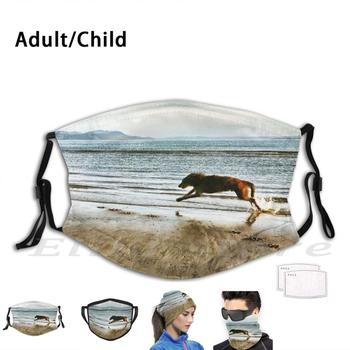 Running Free Washable Filter Mask Warm Scarf Mask Hound Hound Picture Deerhound Wolfhound Shaggy Dog Deerhound Deerhound image
