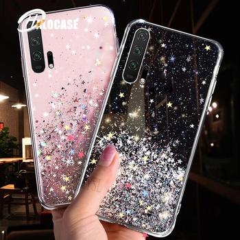 Soft Transparent TPU Phone Case For Huawei Mate 30 20 10 Pro P30 P20 Lite Honor 10i 20i 10 8C 8X 9X Pro P Smart 2019 Bling Cover tanie i dobre opinie CN (pochodzenie) Częściowo przysłonięte etui Star Glitter Soft TPU Phone Cases Coque Fudas przezroczyste Bling Star Transparent Case For Huawei P Smart Plus 2019