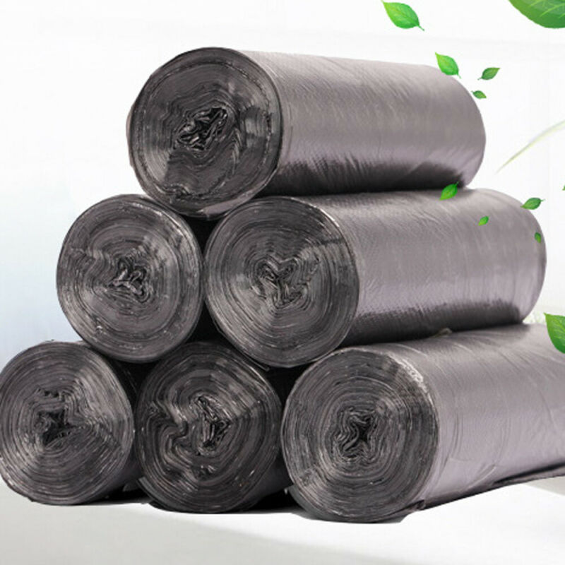 5 Rolls Disposable Household Plastic Garbage Bag Roll Cover Rubbish Bin Liner Home Waste Trash Storage Container Garbage Bags