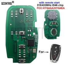 QCONTROL araba uzaktan anahtar elektronik devre için Chevrolet Cruze Malibu Camaro Equinox HYQ4AA HYQ4EA 13508769 anahtarsız gitmek 4BT
