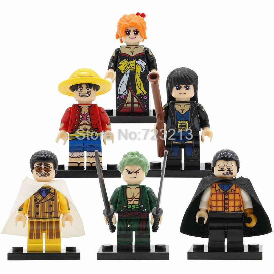 Tunggal Panas Jepang Komik Catoon Taplak Naruto Hatsune Miku Figure Mazinger Z Set Blok Bangunan Model Kit Batu Bata Mainan Hadiah Natal