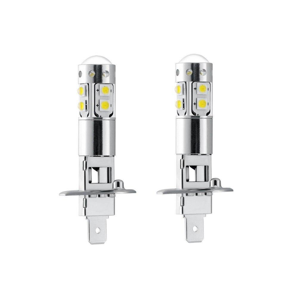 2 шт. высокое качество высокое яркий белый H1 50 Вт Высокая мощность 10SMD светодиодный автомобильный противотуманный фонарь замена лампы Автомобильные фары дальнего света DC12V