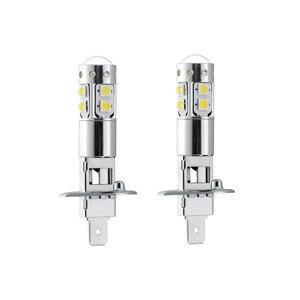 Image 2 - 2pcs คุณภาพสูง Bright สีขาว H1 50 วัตต์ 10SMD LED รถหมอกเปลี่ยนหลอดไฟรถยนต์ไฟ DC12V