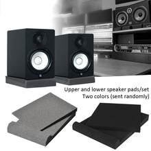 5-inch 2 pces esponja estúdio monitor alto-falante isolamento acústico espuma isolador almofadas cor aleatória