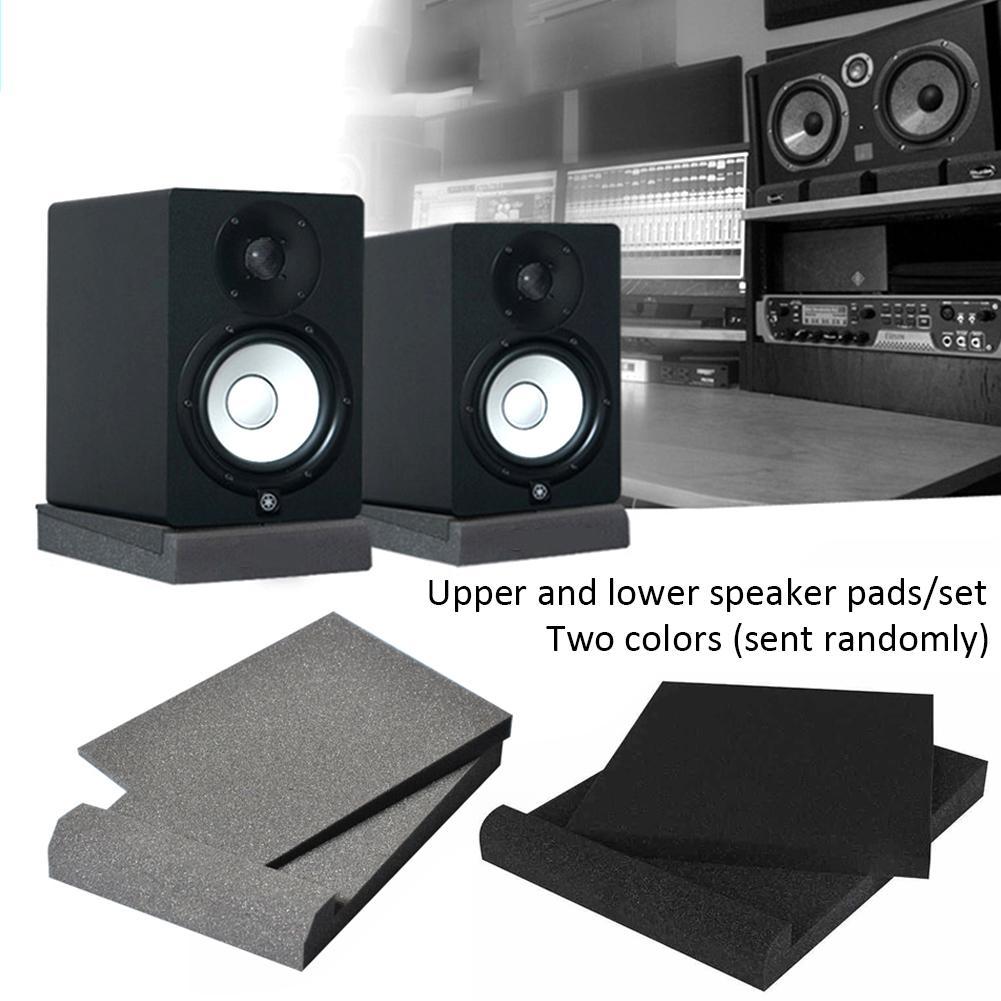 5 pouces 2 pièces éponge Studio moniteur haut-parleur Isolation acoustique mousse isolateur tampons couleur aléatoire
