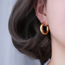 Silvology 925 Sterling Siver Hollow Bend Tube Big Stud Earrings Top Quality French Style Earrings fo