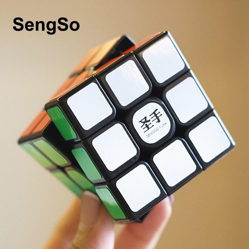 SengSo Shengshou 3x3 Legend S Magic-cube Black 3x3x3 Speed Cubes 5.6CM Professional Puzzle Rotating Smooth Cubos Magicos Toys