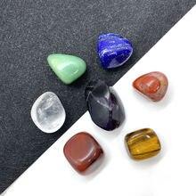 Бусины из натурального камня семь чакр неправильной формы используются