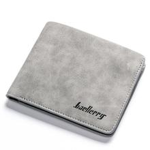 PinShang Men Retro Frosted PU Wallet Two Folding Male Purse Credit Card Holder S