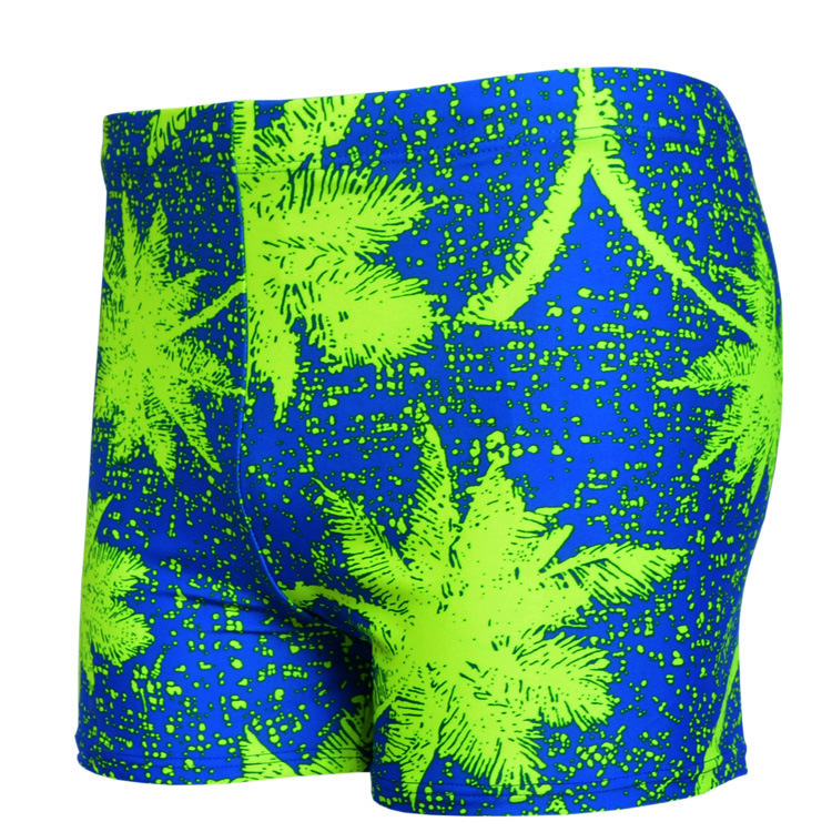 Coconut Trees Printed Swimming Trunks Fashion Men Leveling Feet Swimming Trunks Large Size Lard-bucket Swimming Trunks 925