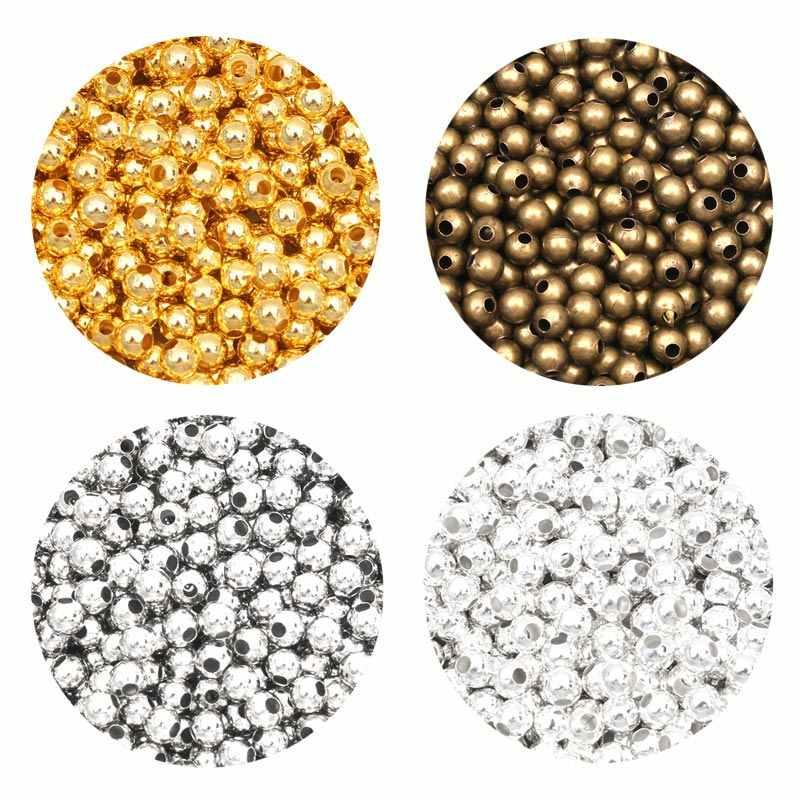 Loch Armband Runder Balken Glatte Kugel Herstellung von Schmuck Spacer Beads