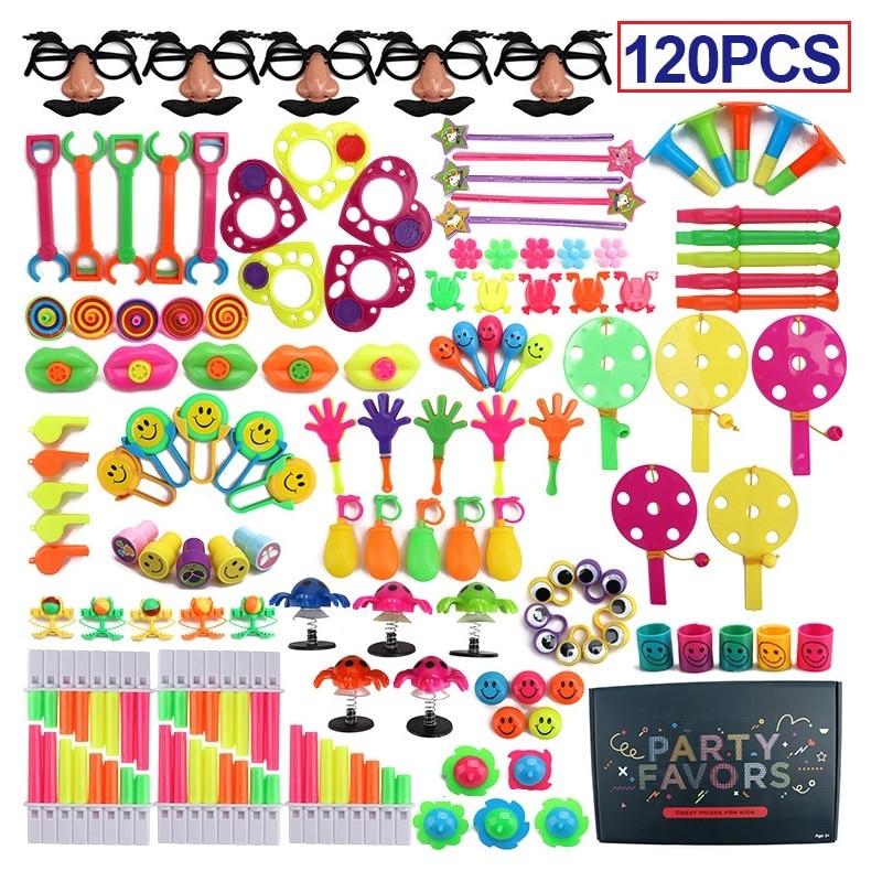 120pcs Kids Birthday Party Favors Pinata Filler Gift Goodie Bag Toys Carnival Prizes Wedding Party Toys Traktatie School Favors