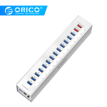 ORICO A3H13P2-SV алюминий 13 портов мульти USB3.0 концентратор сплиттер с 2 зарядными портами 5V2. 4A супер зарядное устройство/5V1A Универсальный Серебряный