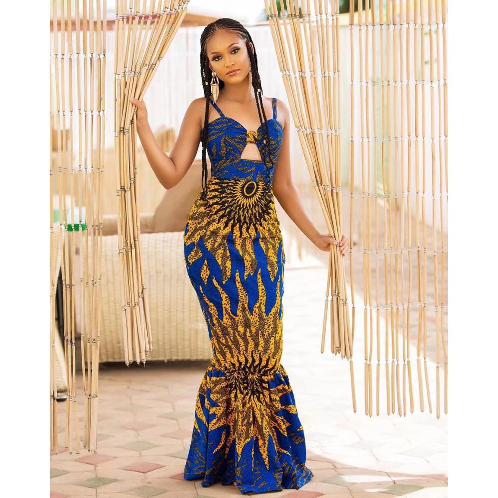 Spaghetti Strap Mermaid Dresses Sexy Backless Floor Length Evening Party Night Club Vestidos Mujer Fishtail Dress 2020 Summer