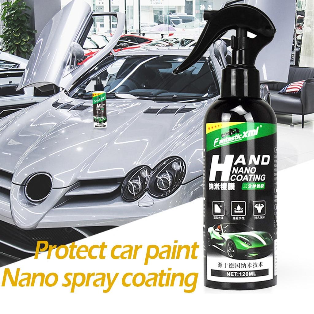 Спрей, керамическое покрытие для автомобиля, герметик, репеллент, нано-стекло, полировка, кристаллическое жидкое гидрофобное покрытие, водо...