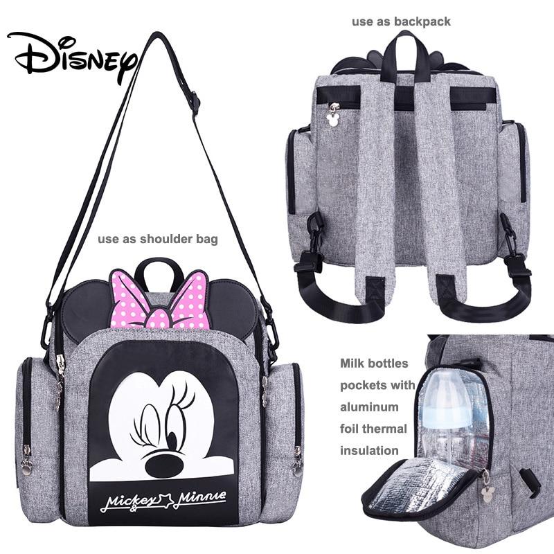 Disney Diaper Bag Backpack Baby Bags For Mom Wet Bag Fashion Mummy Maternity Diaper Organizer Mickey Minnie Chair Bag Pram