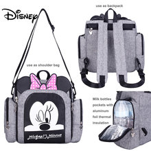 Disney Diaper Bag Backpack Baby Bags for Mom Wet Bag Fashion Mummy Maternity Diaper Organizer Mickey Minnie Chair Bag Carriage(China)