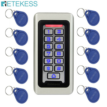 цена на RETEKESS Rfid Door Access Control System IP68 Waterproof Metal Keypad Proximity Card Standalone Access Control With 2000 Users