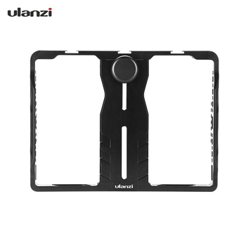 Ulanzi U-PAD Metal Video Cage Mount Vlog Filmmaking Rig for iPad with Cold Shoe Mounts for Microphone LED Video Light