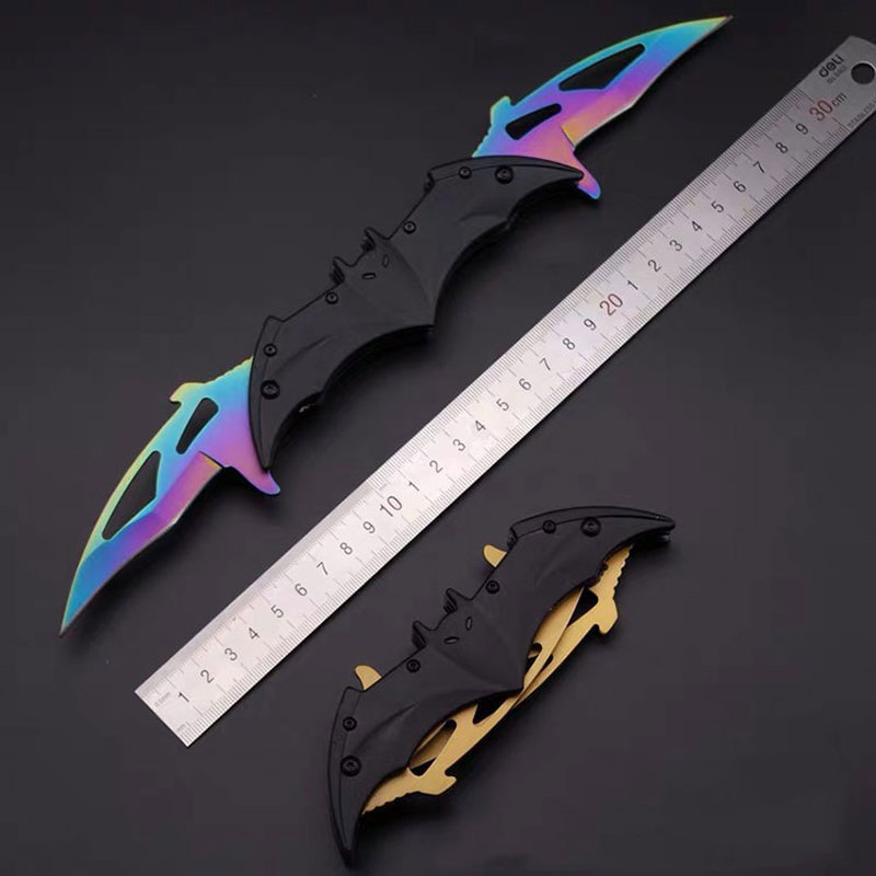 <font><b>Bat</b></font> Utility <font><b>Knife</b></font> 440C Stainless Steel Folding <font><b>Knives</b></font> Tactical Outdoor Camping Self-defense Survival Tool Hunting Saber Karambit image