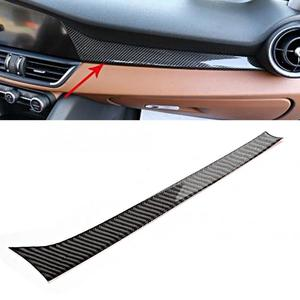 Carbon Fiber Dashboard Strip Trim Car Interior Decoration Fits for Alfa Romeo Giulia 2017 2018 2019 car styling accessories