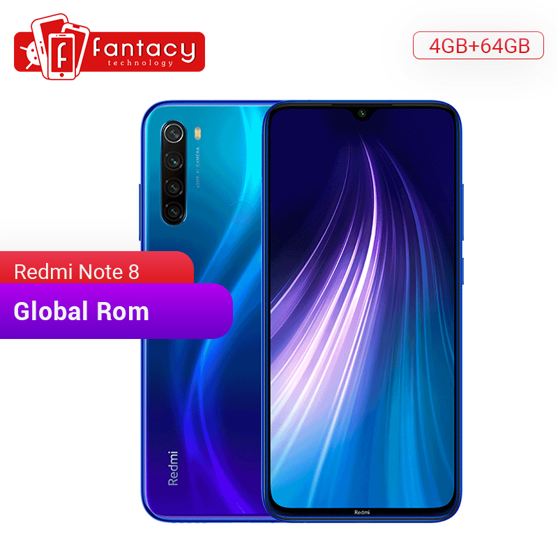 "Global ROM Xiaomi Redmi Note 8 4GB 64GB 48MP Quad Cameras Smartphone Snapdragon 665 Octa Core 6.3"" FHD Screen 4000mAh"
