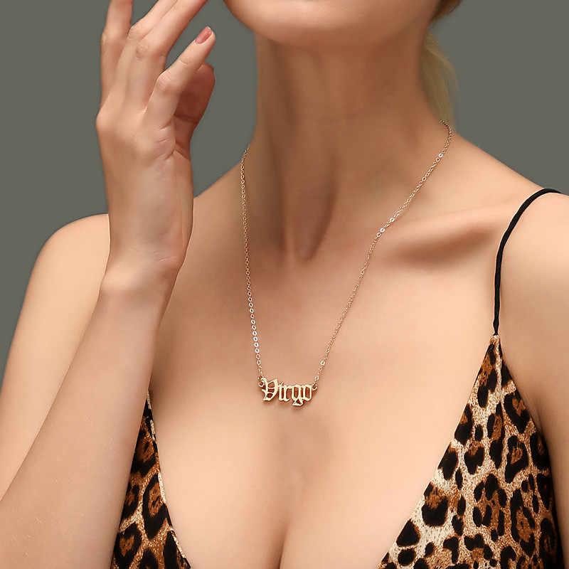 Modyle 2020 Nuova Costellazione Dello Zodiaco Collane Dei Monili per Le Donne di Stile Antico Progettato Lettera Toro Ariete Collane Collier