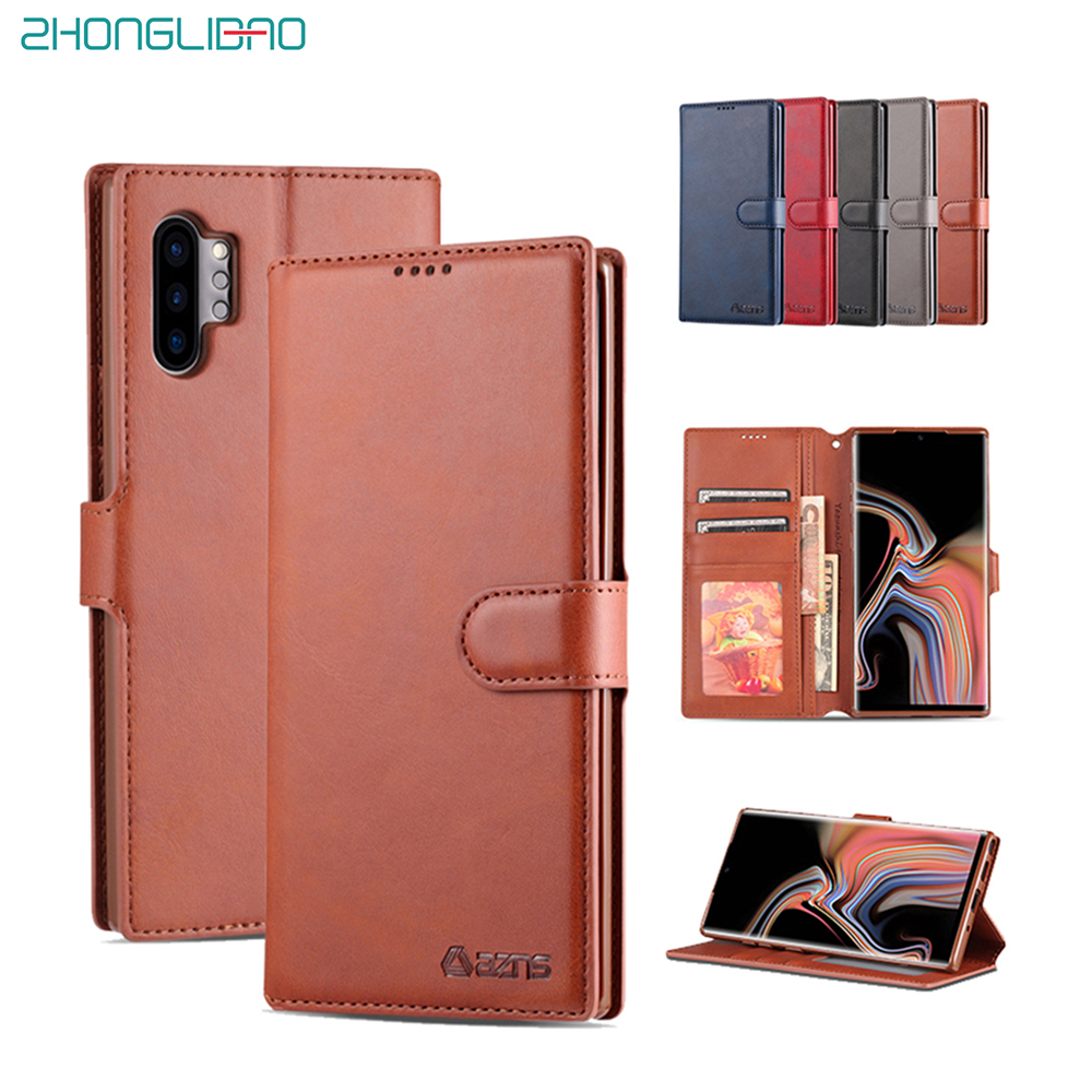 PU Leather Note10pro Flip Case For Samsung Galaxy Note 10 Pro Wallet Magnetic Card Holder Phone Bag Cover 360 Protective Shell