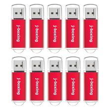 J ボクシング 512 メガバイト USB フラッシュドライブ 10 個 64 メガバイト 128 メガバイト 256 メガバイト小容量 Pendrives ジップドライブコンピュータ車の Usb データ収納赤