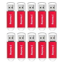 J 권투 512MB USB 플래시 드라이브 10PCS 64MB 128MB 256MB 소용량 Pendrives Zip 드라이브 컴퓨터 자동차 USB 데이터 저장 빨간색