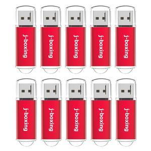 Image 1 - J boxing 512MB clés USB 10 pièces 64MB 128MB 256MB petite capacité clés USB pour ordinateur voiture stockage de données USB rouge