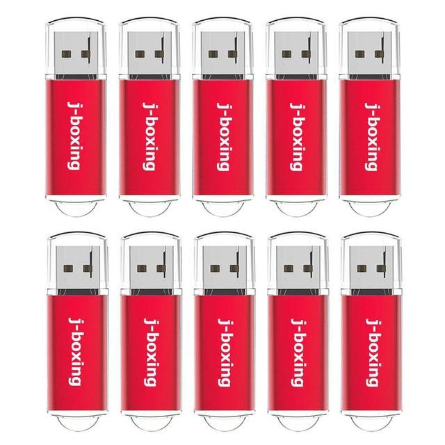 J boxing 512MB clés USB 10 pièces 64MB 128MB 256MB petite capacité clés USB pour ordinateur voiture stockage de données USB rouge