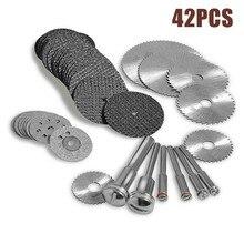 42pcs Diamond Cutting Wheels HSS Circular Saw Blade Rotary Woodworking Tool For Mini Drill Rotary Tool Accessories