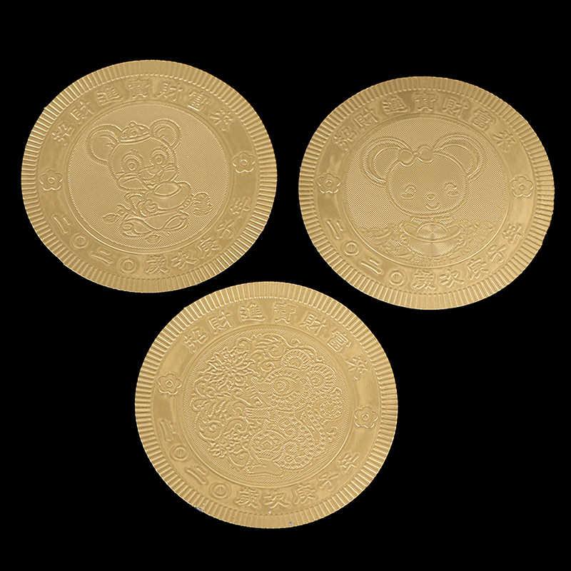 2020 ปีหนูเหรียญที่ระลึกเหรียญจีน Zodiac ของที่ระลึกท้าทายสะสมเหรียญคอลเลกชันศิลปะหัตถกรรม