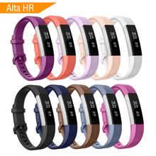 10Colors Soft Silicone Strap for Fitbit Alta HR Band Sport Adjustable Wristbands Hr Smart Watch Replacement Accessories