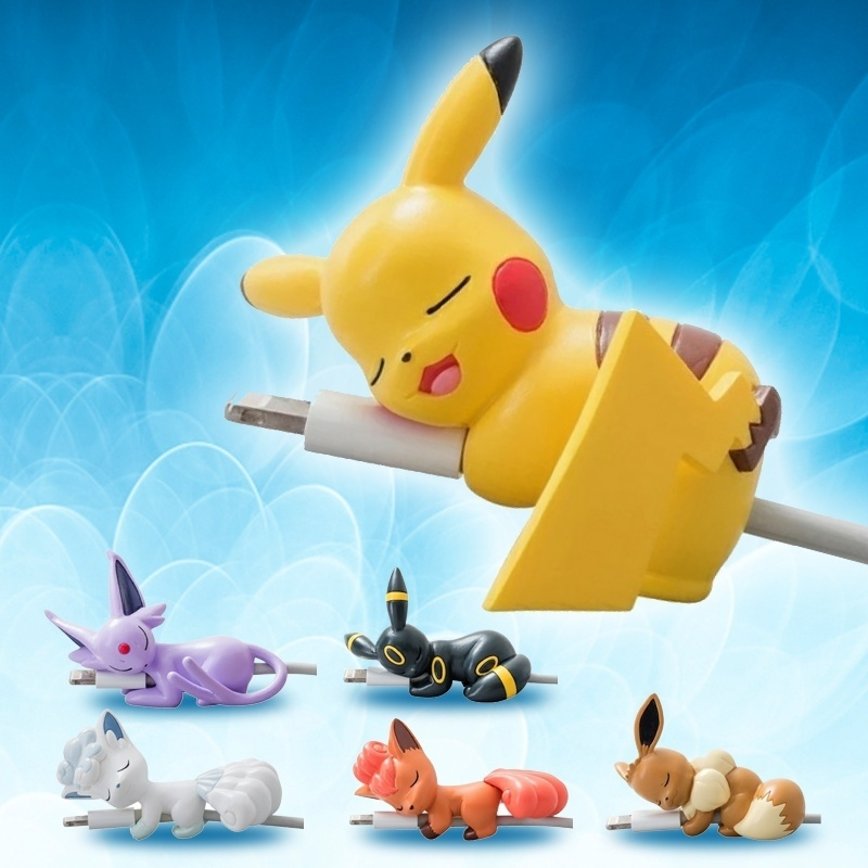 New Mini Pocket Pokemon Figure  Cable Bite Protector Cable Protector Cute Animal Iphone Phone Accessories  Cable Data Protector