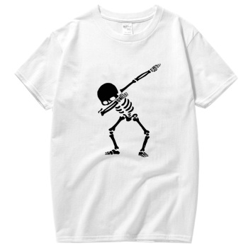 Men Top Quality 100% cotton for men short sleeve Funny tshirt print skull men T shirt casual o-neck summer mens tee shirts цена 2017