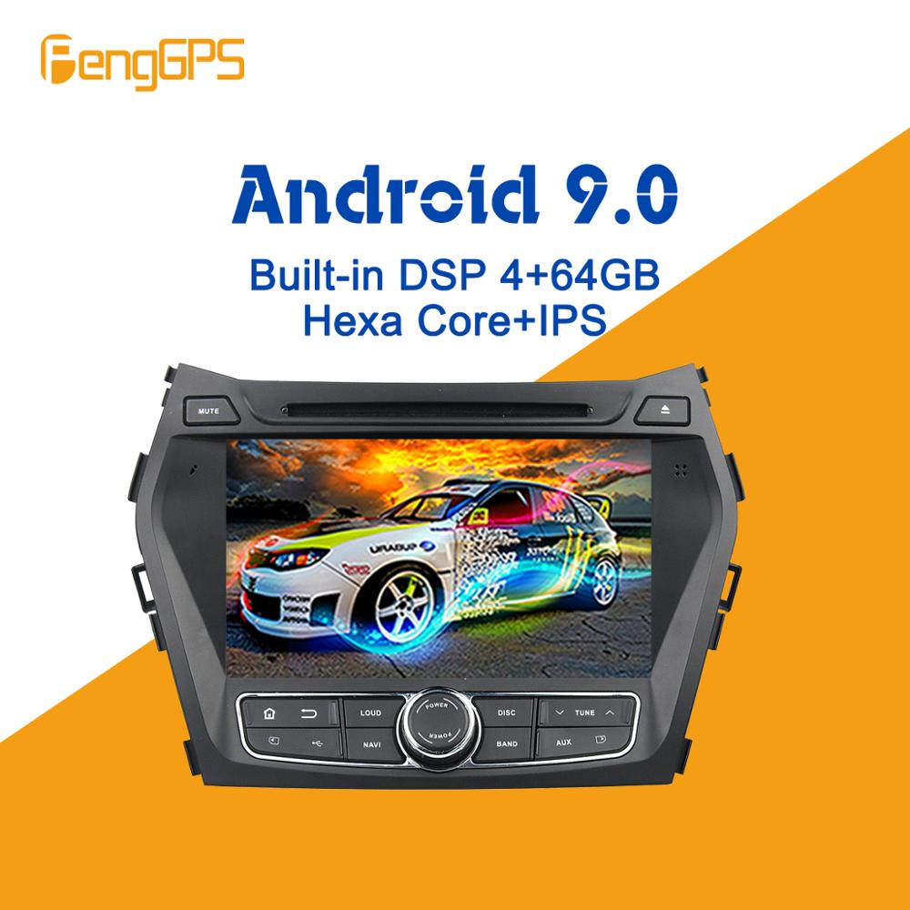 Android 9.0 PX6 DSP For Hyundai IX45 Santa Fe 2013 - 2017 Car Multimedia Stereo Player DVD Radio GPS Navigation Head Unit Audio